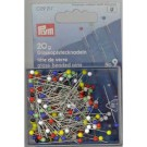 Glass-headed Pins, 20g, 30mm, assorted colours, 200 count
