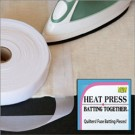 "HEAT Press Batting Together: 1.5"" x 100 Yards (WHITE) Cloth Tape"