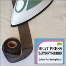 "HEAT Press Batting Together: 1.5"" x 10 Yards (BLACK) Cloth Tape"
