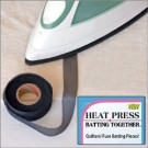 "HEAT Press Batting Together: 3/4"" x 10 Yards (BLACK) Cloth Tape"