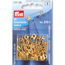 Safety Pins, Brass, 19/23/27 mm, 30 count