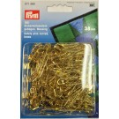 Safety Pins, Curved - 38mm - GOLD Colour, 150 Count