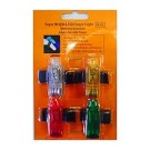 LED Mini-Flashlight/Finger Light, Assorted Colours, 4 Count