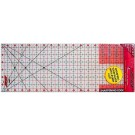 "Sullivans Cutting Edge FROSTED Rulers, Non-Skid & Sharpens Your Blade, 6.5"" x 18.5"""