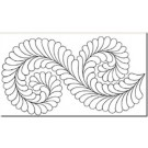 "Hancy Creations Fancy Feather Border Stencil, 9"" width"