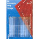 Hand sewing needles, Sharps, no.3-7, 20 count