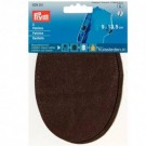 "Patches - Imitation Nappa Leather (Sew On), 9"" x 13.5"", Brown, 2 Count"