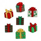 "Christmas Joy Buttons, 3/4"" - 7/8"", 7 count"