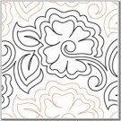 "Azaleas, 10"" Wide Longarm Pantograph Pattern- Single Row, 144"" Long (Old Item#: QC40304)"