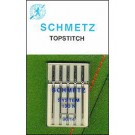 Schmetz Top Stitch Needles, 5 count, size100