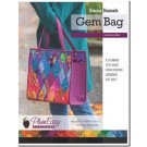 Dancing Diamonds Gem Bag Pattern with printed interfacing template - By PlumEasy