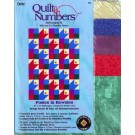 "Quilt by Number, Posies in Rowsies, 20""x28"" Wall Hanging Kit with Iron-on Reusable Pattern (Fabric Included)"