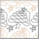 "Christmas Doodle - Trees, 10"" Wide Longarm Pantograph Pattern - Single Row, 144"" Long (Old Item#: QC10269)"