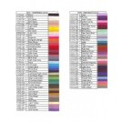 Color Chart For 1570 Thread, 1500M