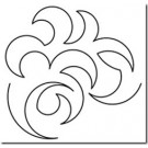 "Hancy Creations Overall Swirl Stencil, Design Measures 10"" W"