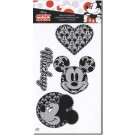 "Iron-On Transfer: Mickey Mouse, 4 images, black & white, about 2.5"" x 3"" for Mickey's images (Special Order Only!)"