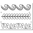 "3 Border Assortment Stencil, 2.5"" to 3.5"""