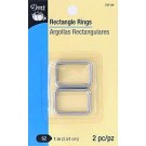 """Rectangle Rings, Size 1"""" (2.54cm), Nickel, 2 count"""