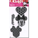 "Iron-On Transfer: Minnie Mouse, 4 images, black & white, about 2.5"" x 3"" for Minnie's images (Special Order Only!)"
