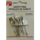 Safety Pins - Size 2 - 9 Count
