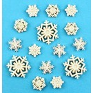"Snow Flurries Buttons (Pearl Colour), 5/8"" & 7/8"" 15 count"