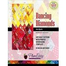 Dancing Diamonds Art Quilt Pattern with printed interfacing template (in English & French) - By PlumEasy