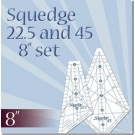 "Squedge 8"" Ruler Set by Phillips Fiber Art: Includes Two Rulers - 22.5 Degree Ruler + 45 Degree Ruler, Instructions & Bonus Pattern Included"