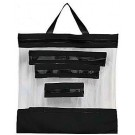"Clear Storage Bags, 4-Piece Assortment (Includes 16""x16"", 12""x13"", 10""x11"" and 6""x8"")"