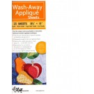 Wash-Away Applique Sheets, 25 Sheets