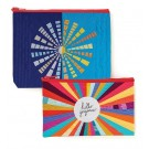 "Hello Gorgeous Eco Pouch Set - Designs by Christina Cameli (Included Sizes: 9.5"" x 7"" and  8.5"" x 5"")"