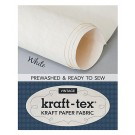 "Kraft-Tex Vintage Pre-Washed Kraft Paper Fabric Roll, 18.5"" x 28.5"", White"