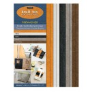 "Kraft-Tex Vintage Kraft Paper Fabric Sampler with 5 Pre-Washed Colors, 10 Sheets, 8.5"" x 11"", Natural, White, Black, Stone & Chocolate"