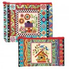Colourful Creatures Eco Pouch Set (2 Pouches) by Erica Kaprow