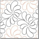 "Dandelion, 11"" wide pantograph pattern - single row - 144"" long"