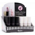 Lipstick Needle & Pin Case 24pc Display (Black & White)