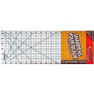 "Sullivans Cutting Edge CLEAR Rulers, Non-Skid & Sharpens Your Blade, 6.5"" x 18.5"""