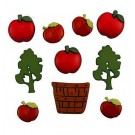 Apple Pickin' - Autumn Collection Buttons (Halloween & Fall Season Promotion)