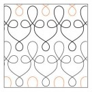 "Filigree, 5"" Wide Longarm Pantograph Pattern (Double Row), 144"" Long"