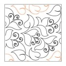 "Bouganvilla Longarm Pantograph Pattern, 10.75"" Wide x 144"" Long, Single Row"