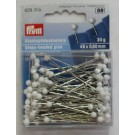Glass-headed Pins, 30g 48mm, White colour, 100 count