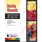 PlumEasy Patterns Dancing Diamond Art Quilt Pattern Interfacing Template REFILLS, 3 Packs (in English & French) - 50% OFF!