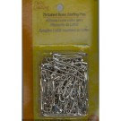 Curved Brass Safety Pins 38mm, 75 count