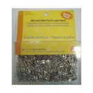 Curved Safety Pins 300 count, Nickel Plate