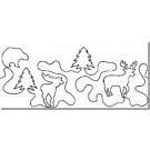 "Hancy Creations Deer In The Woods Stencil by Dave Hudson (Size: 7 1/2"" W)"