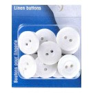 Linen Buttons, Melamine Resin, 15mm, 18 pieces