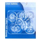 Linen Buttons, Polyester, 17mm, 16 pieces
