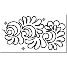"Hancy Creations Interlocking El Dorado Stencil (Row Height: 6 3/4"")"