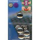 Cover Buttons Without Tool, 15mm, 6 Pieces
