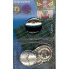 Cover Buttons Without Tool, 29mm, 3 Pieces
