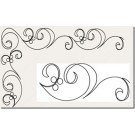 "Hancy Creations Along the Way Swirl Border Stencil (2 Sizes: 2 1/2"" + 4"" W)"